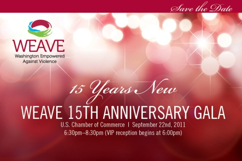 WEAVE 15th Anniversary Gala Invitation