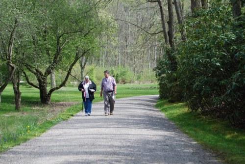 Parents walking