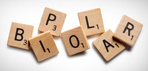 Letters spelling Bipolar